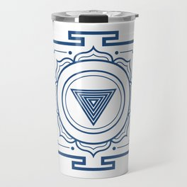 Blue Lotus Mandala Travel Mug