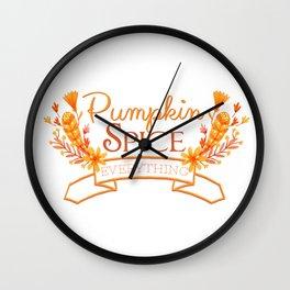 Pumpkin Spice Everything Wall Clock