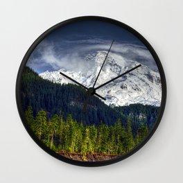 Mount Rainer Wall Clock