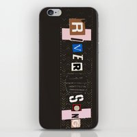 river song iPhone & iPod Skins featuring River Song by colleencunha