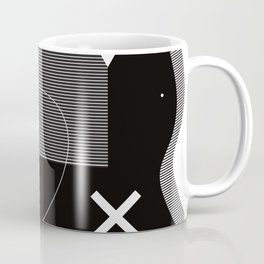 Black and white Memphis stye - abstract geometric pattern Coffee Mug