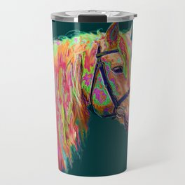 Rainbow Pony. Travel Mug