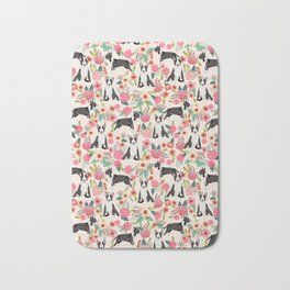 Bull Terrier floral dog breed gifts pet pattern by pet friendly bull terriers Bath Mat