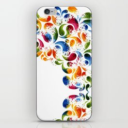 Colorful thoughts iPhone Skin
