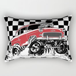 1955 CHEVY CLASSIC HOT ROD Rectangular Pillow