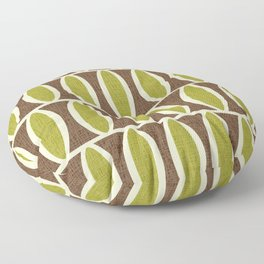 Mid Century Modern Geometric Oval Pattern 226 Floor Pillow