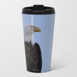 Bald Eagle on Watch along the Kenai River Travel Mug