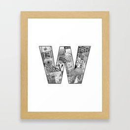 Cutout Letter W Framed Art Print