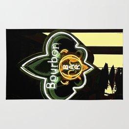 New Orleans Bourbon Street Bar Rug