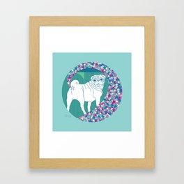 pug rainbow Framed Art Print