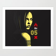 Fashion Dark Woman Art Print