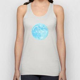 Moon Portrait 4, Blue Moon Unisex Tank Top