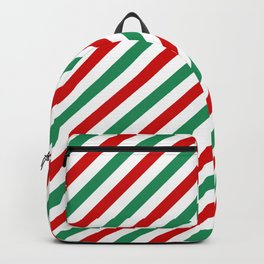 Candycane Red and Green Backpack