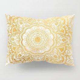 Queen Starring of Mandala-Gold Sunflower I Pillow Sham