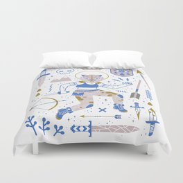 The Warrior Duvet Cover