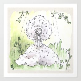Empire of Mushrooms: Lycoperdon perlatum Art Print