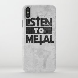 Listen to Metal iPhone Case