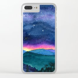 Good Night Smoky Mountains Clear iPhone Case