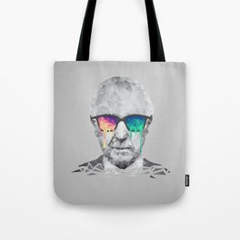 Albert Hofmann - Psychedelic Polygon Low Poly Portrait Tote Bag