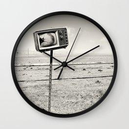 Desert TV Photograph Wall Clock