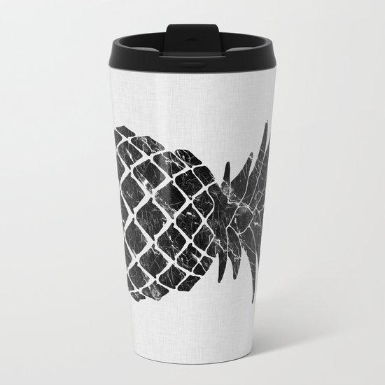 Pineapple Marble Metal Travel Mug