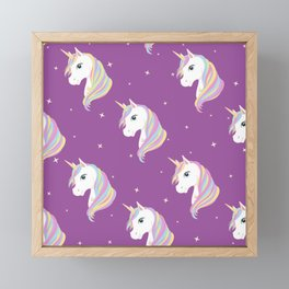 Unicorn Pattern Framed Mini Art Print