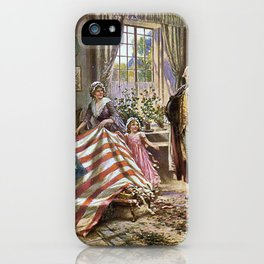 Edward percy moran: the birth of old glory Or Betsy Ross and Washington iPhone Case