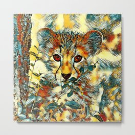 AnimalArt_Cheetah_20171201_by_JAMColorsSpecial Metal Print