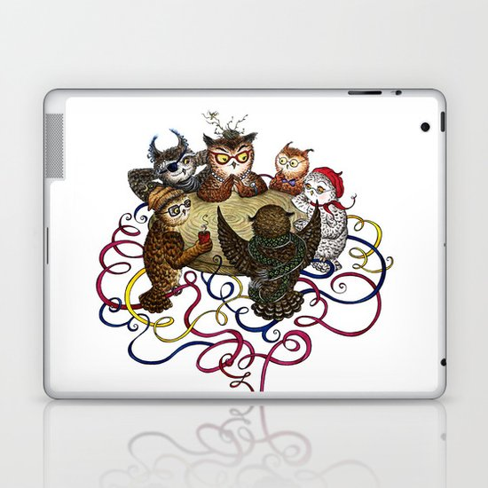 Art School Owl Assembly Laptop & iPad Skin