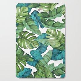 Tropical leaves II Cutting Board