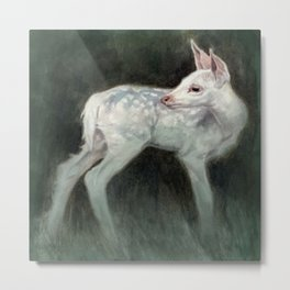 A Forest Ghost Metal Print