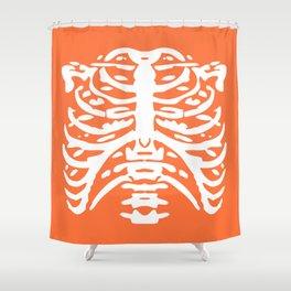 Human Rib Cage Pattern Orange 2 Shower Curtain