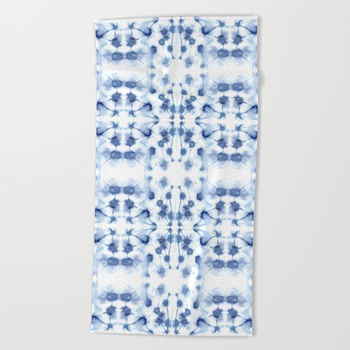 Mirror Dye Blue Beach Towel