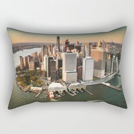 aerial view of manhattan Rectangular Pillow