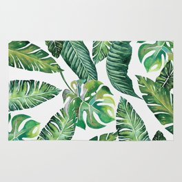 Jungle Leaves, Banana, Monstera #society6 Rug