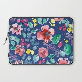 Summer Blooms on True Blue Laptop Sleeve