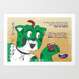 Green Spokestiger Art Print