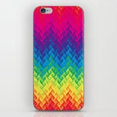 neon rainbow flame chevron iPhone & iPod Skin