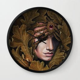 Mabon - goddess of fall Wall Clock