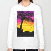 palm Long Sleeve T-shirts featuring palm by Mel E Hyman