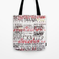 Calligraphic poster Tote Bag