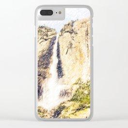 Yosemite fall Clear iPhone Case