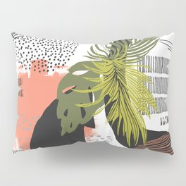 Nature abstract with linear strokes Pillow Sham
