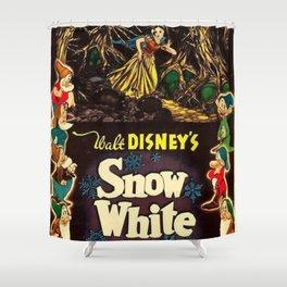 1937 Snow White And The Seven Dwarfs Original U.S. Film Poster Shower Curtain