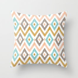 Sketchy Diamond IKAT Throw Pillow