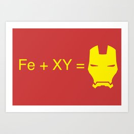 Iron Man Equation Art Print