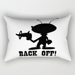 Back Off! Rectangular Pillow