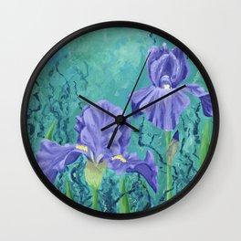Secret Iris Garden Wall Clock