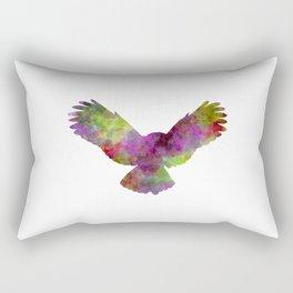Owl 02 in watercolor Rectangular Pillow