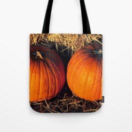 Twin Vintage Pumpkins Tote Bag